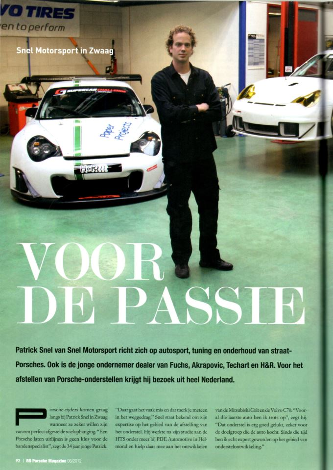 Snel Motorsport in RS Porsche Magazine